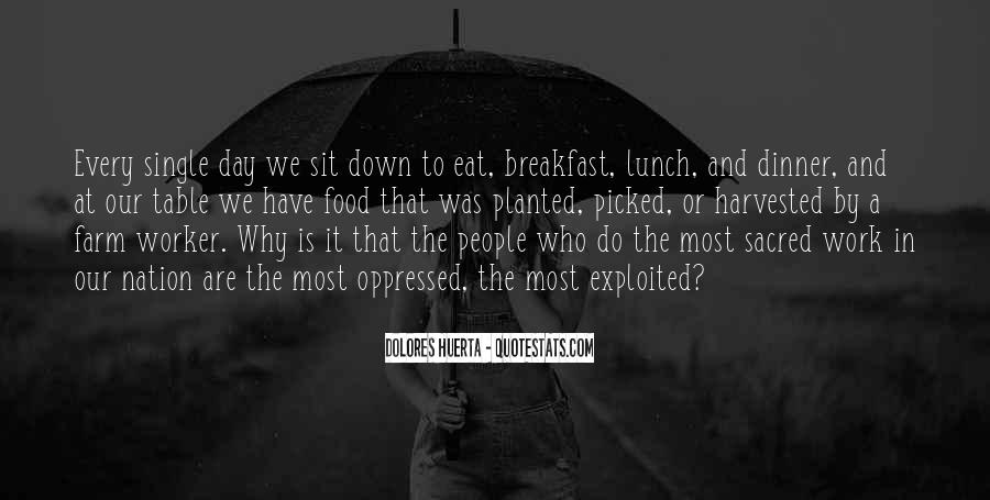 Quotes About Breakfast Lunch And Dinner #241728