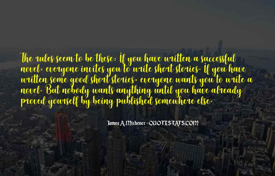 Quotes About Being Published #1014646