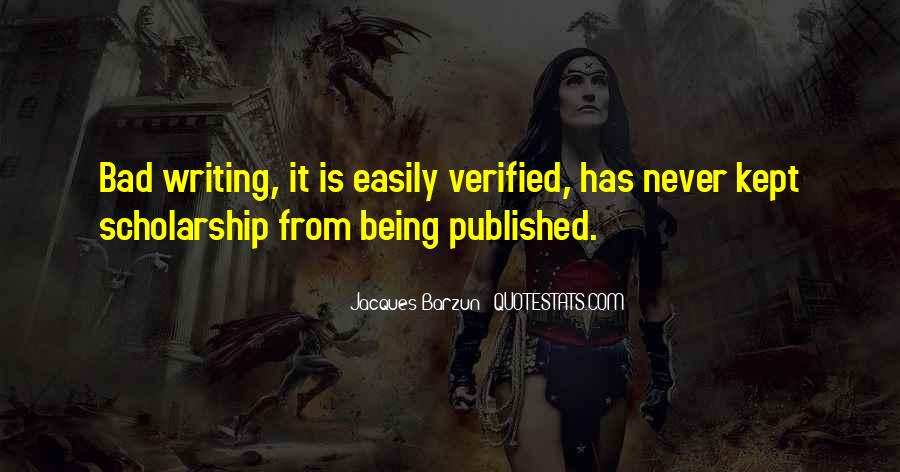 Quotes About Being Published #478266