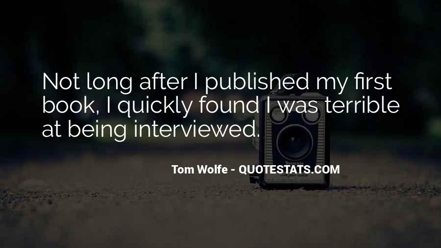 Quotes About Being Published #809589