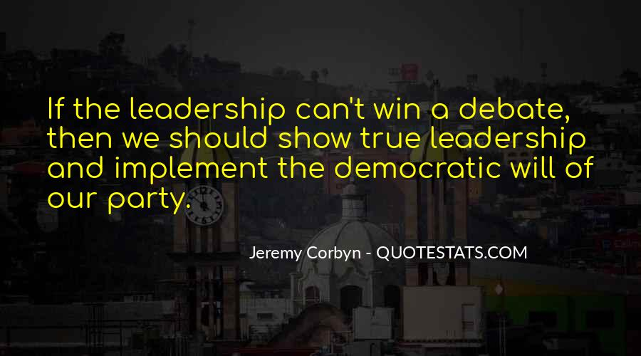 Quotes About Democratic Leadership #1158463