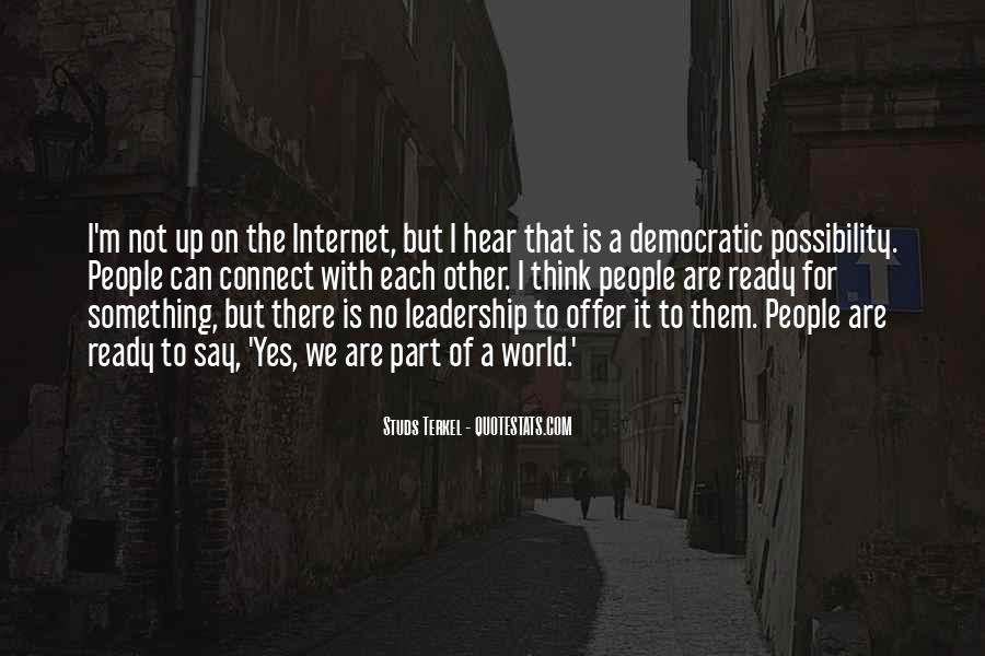 Quotes About Democratic Leadership #1585080