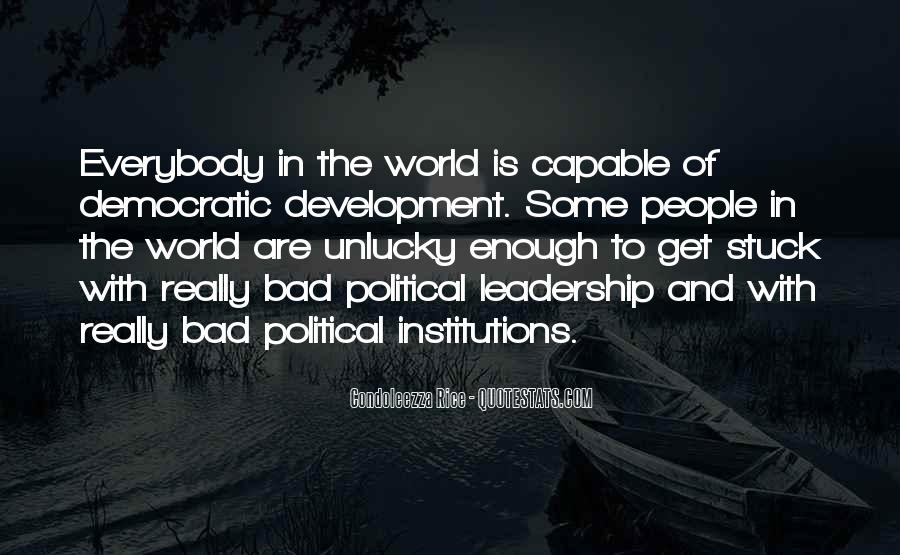 Quotes About Democratic Leadership #29506