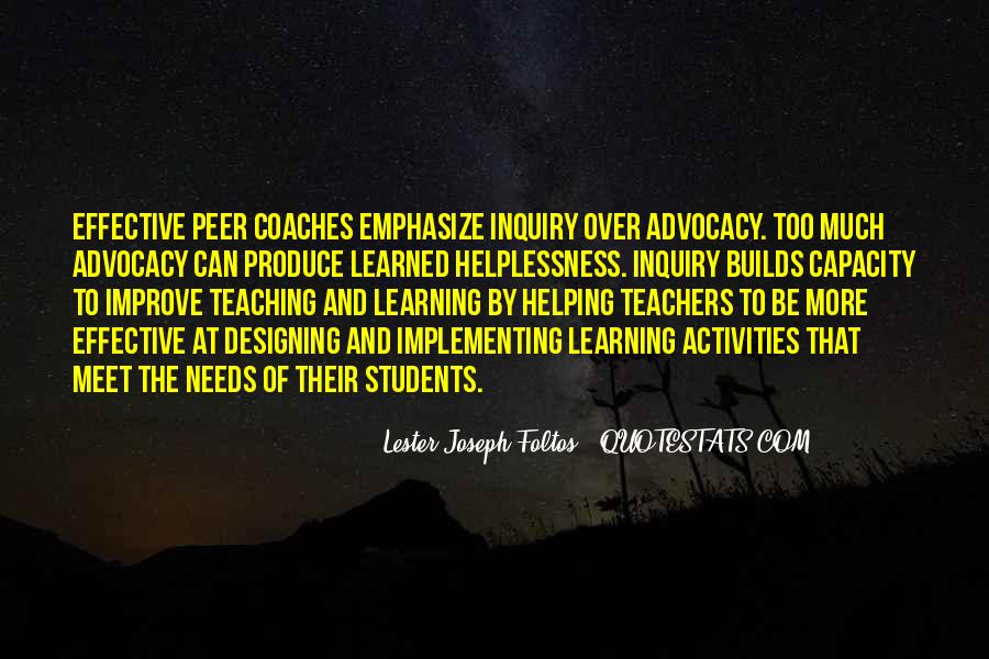 Quotes About Peer Teaching #211559