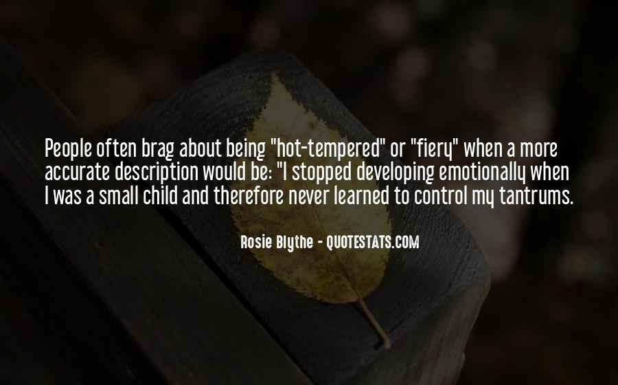 Quotes About Hot Tempered #658216