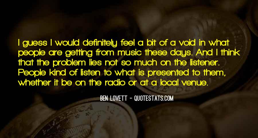 Quotes About Local Music #110964