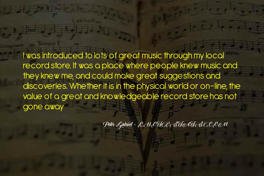 Quotes About Local Music #1626378