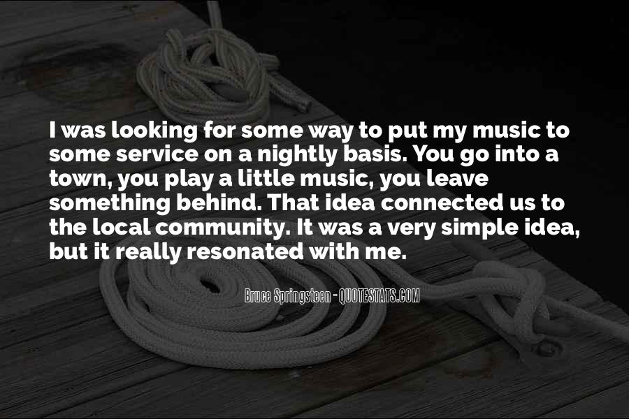 Quotes About Local Music #1868723