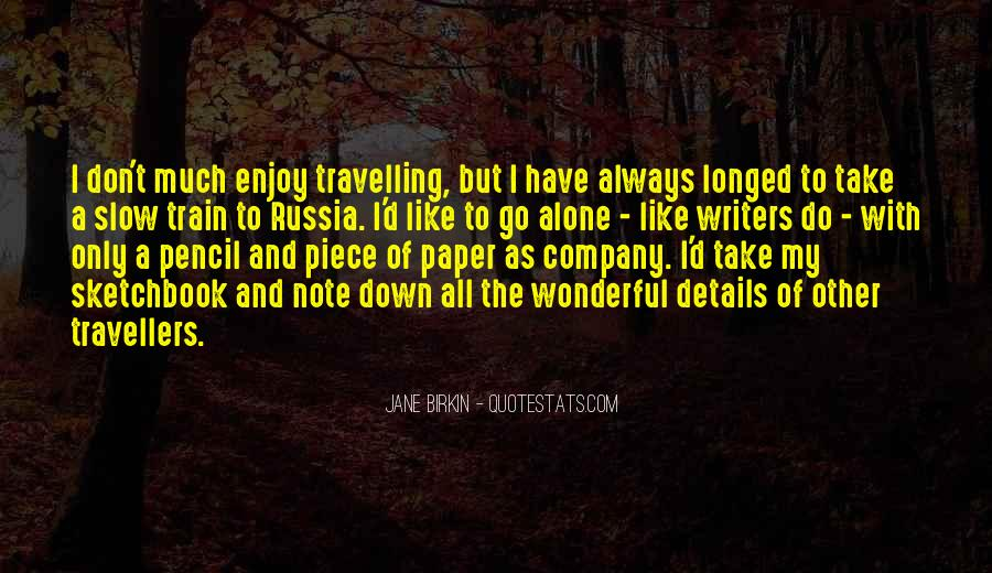 Quotes About Travelling Alone #231519