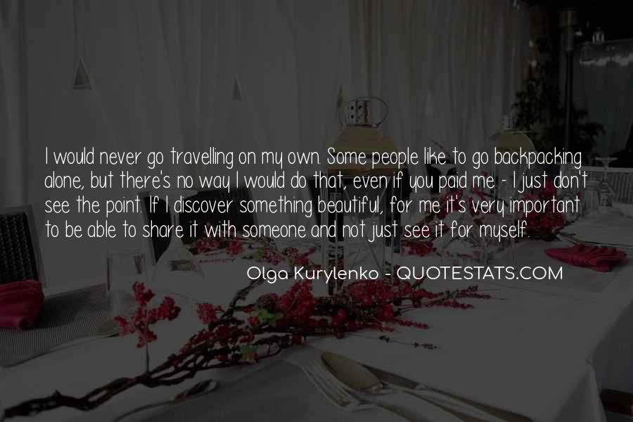 Quotes About Travelling Alone #840034