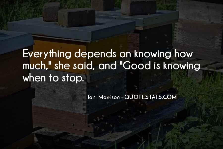 Quotes About Not Knowing When To Stop #1402710