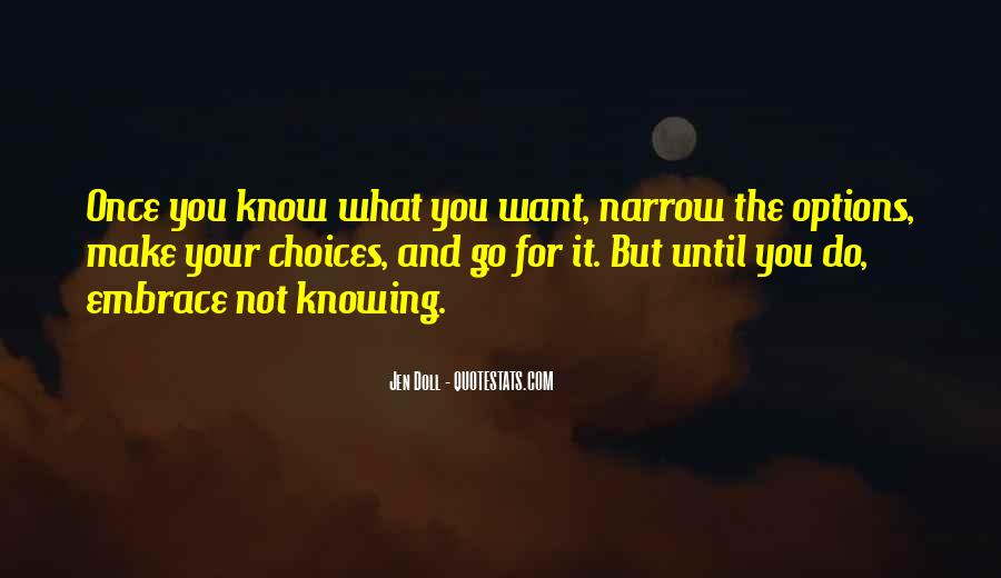 Quotes About Not Know What You Want #457390