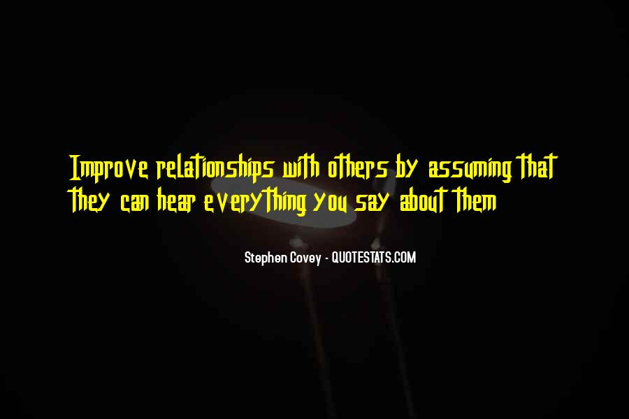 Quotes About Assuming In Relationships #783358