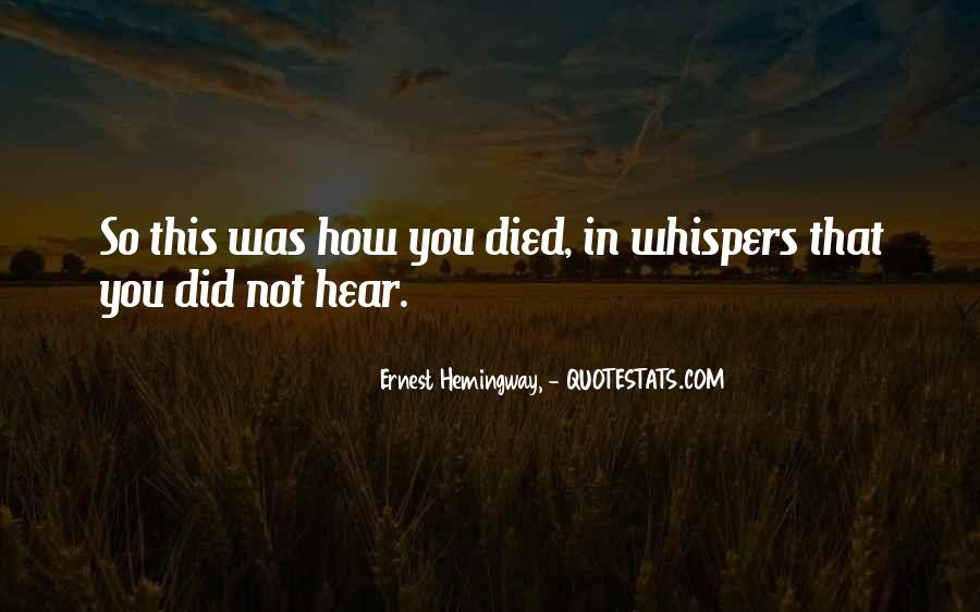 Quotes About Whispers #135746