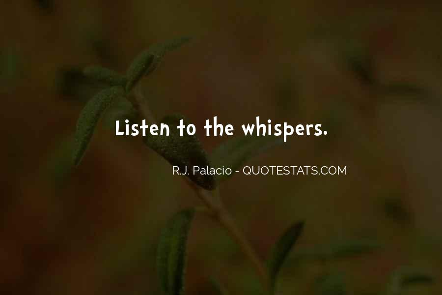 Quotes About Whispers #60704