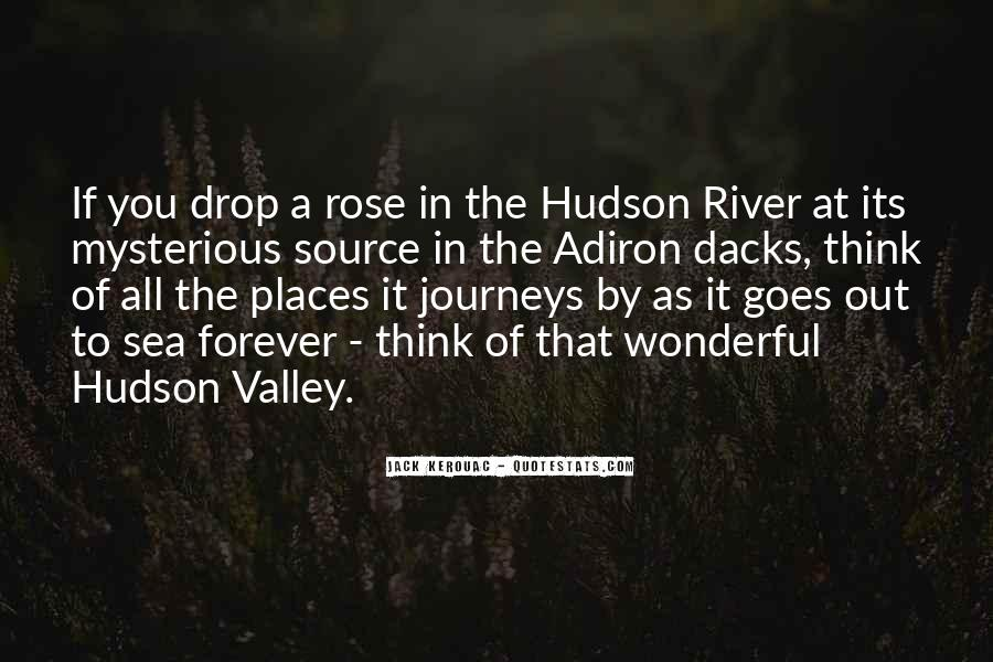 Quotes About The Hudson River #768362