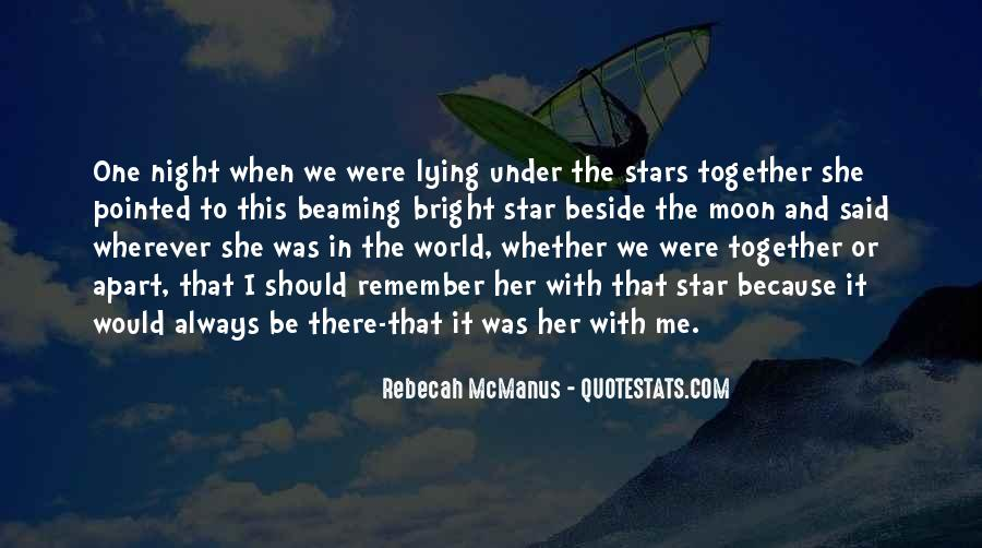 Quotes About Lying Under The Stars #83892