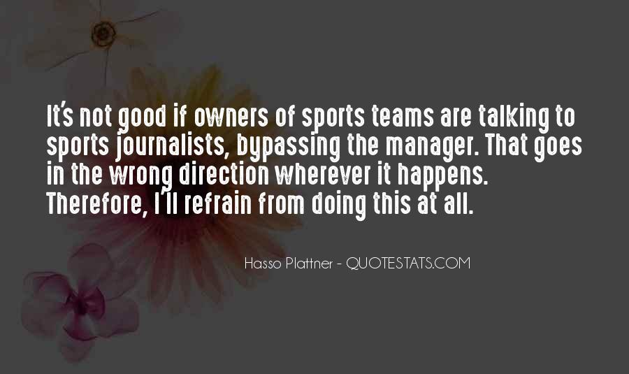 Quotes About Sports Journalists #1674769