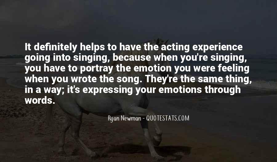 Quotes About Acting On Emotions #1762279