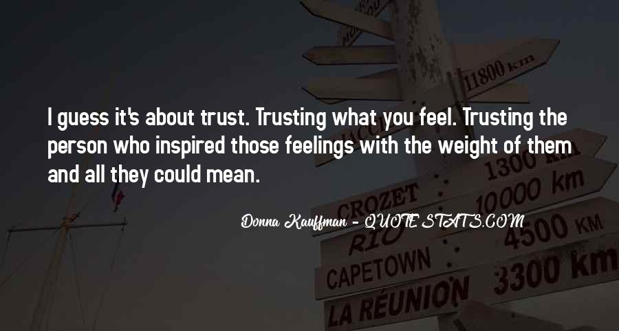 Quotes About Not Trusting Your Love #1158572