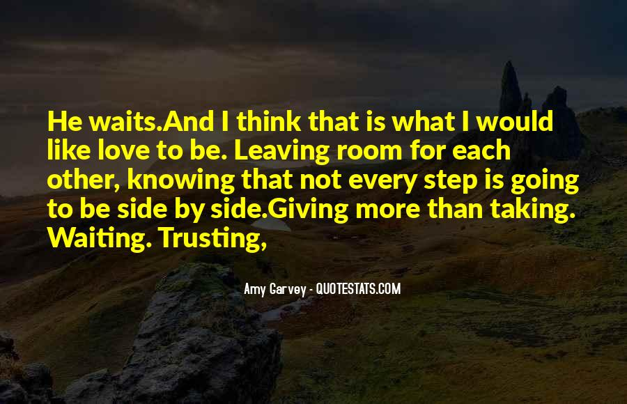 Quotes About Not Trusting Your Love #130937