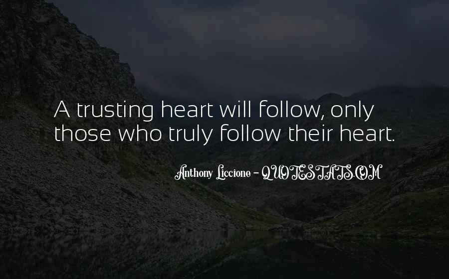 Quotes About Not Trusting Your Love #1321738