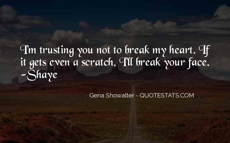 Quotes About Not Trusting Your Love #1556084