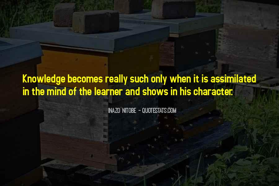 Quotes About Character And Knowledge #1448603