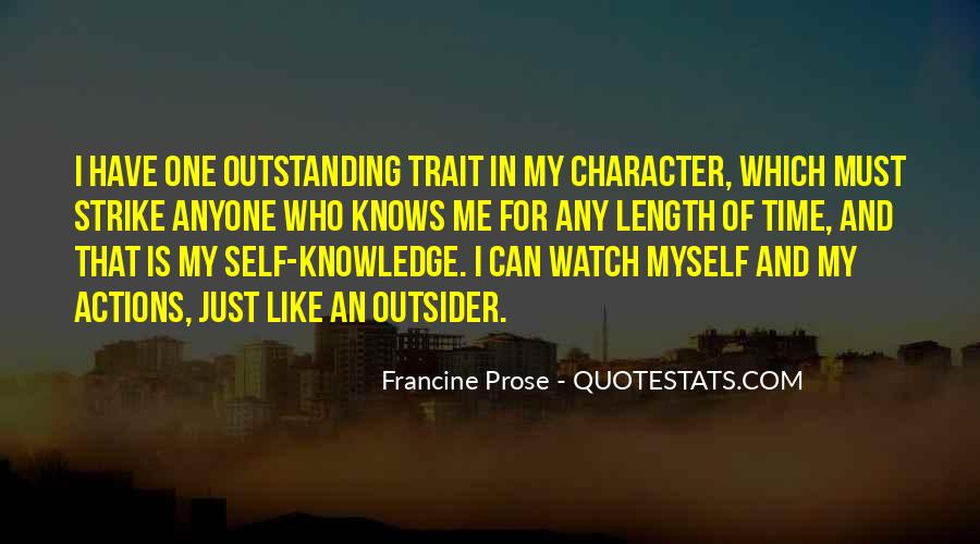 Quotes About Character And Knowledge #725229