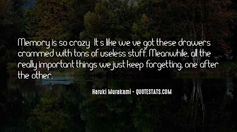 Quotes About Forgetting Important Things #569954