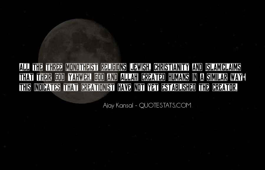 Quotes About Monotheism #1749599