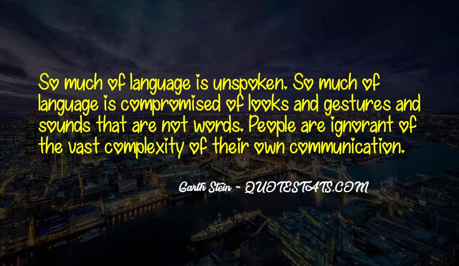 Quotes About Unspoken Words #1176066