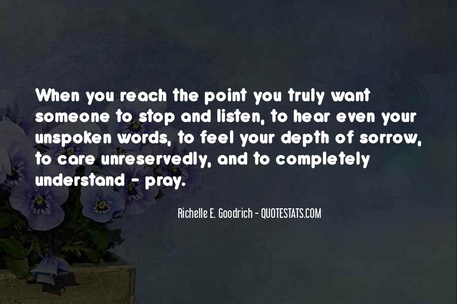 Quotes About Unspoken Words #1382379