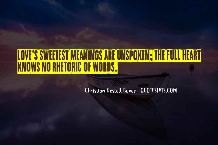 Quotes About Unspoken Words #147210