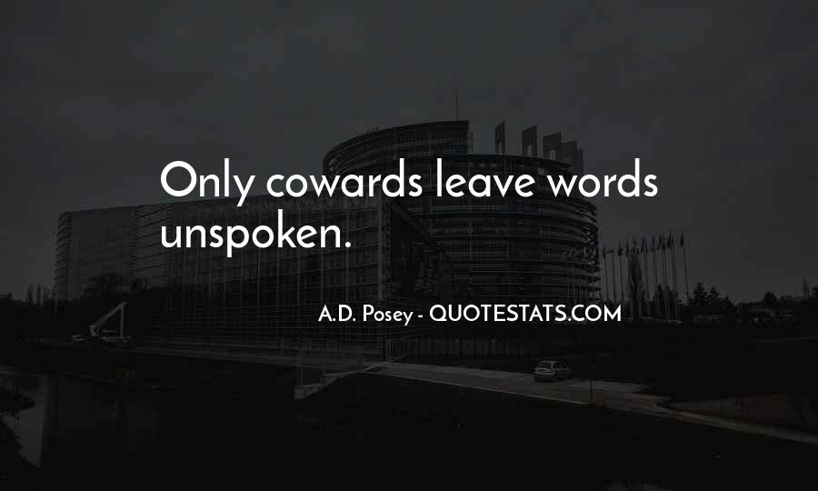 Quotes About Unspoken Words #234783