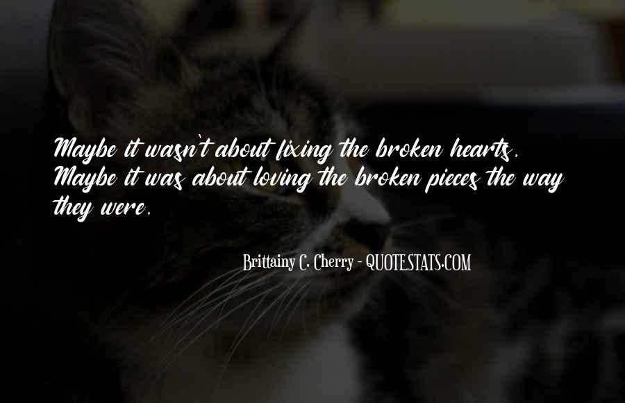 Quotes About Fixing Broken Hearts #1340155