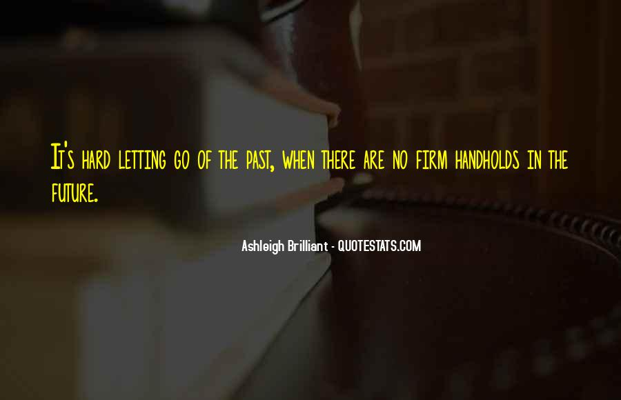 Quotes About The Future And Letting Go Of The Past #1368213