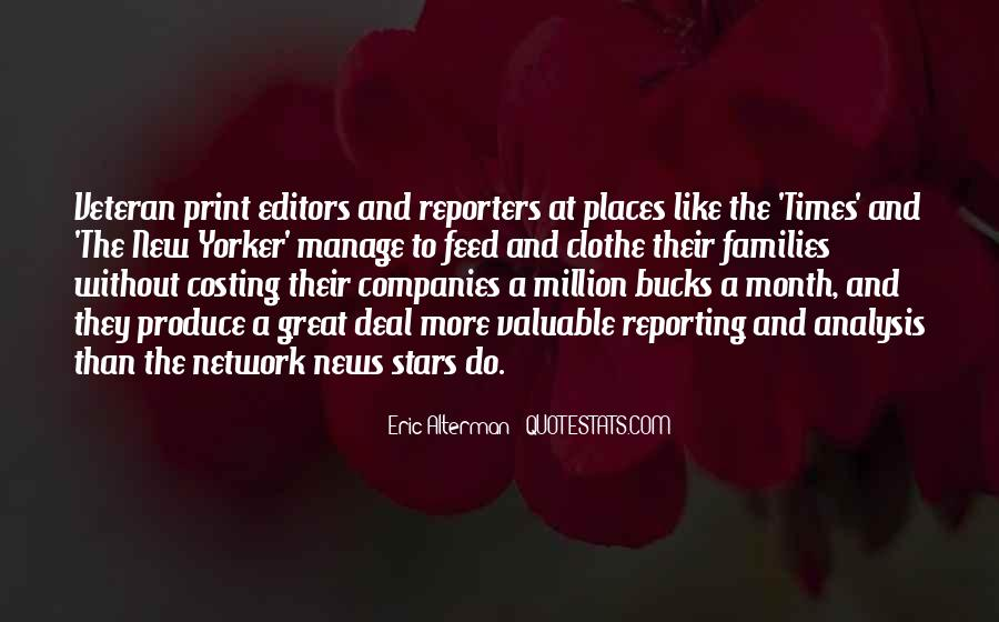 Quotes About News Reporting #1602444