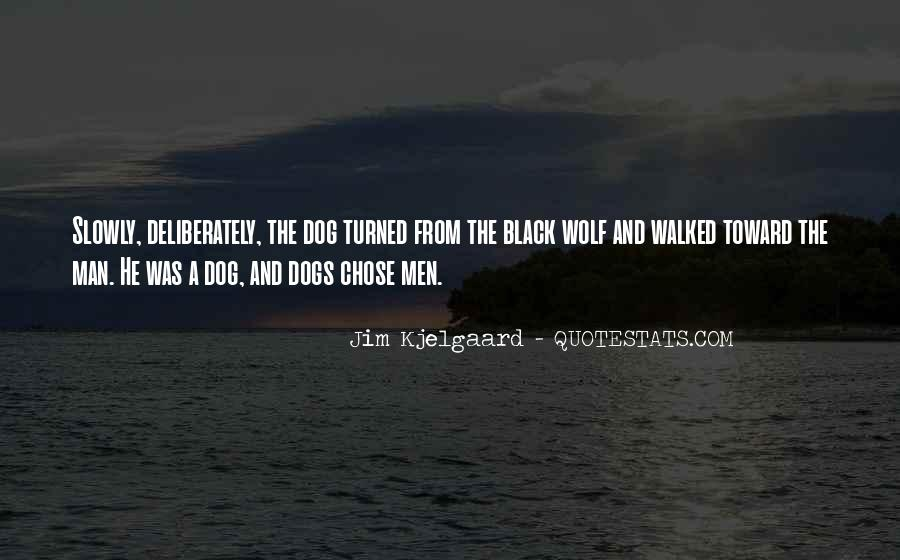 Quotes About Black Wolf #551640