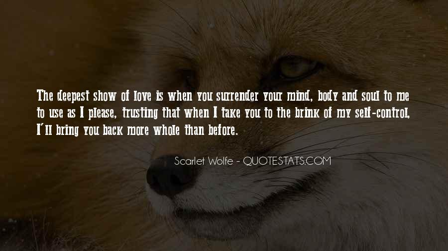 Quotes About Self Control And Love #1269018