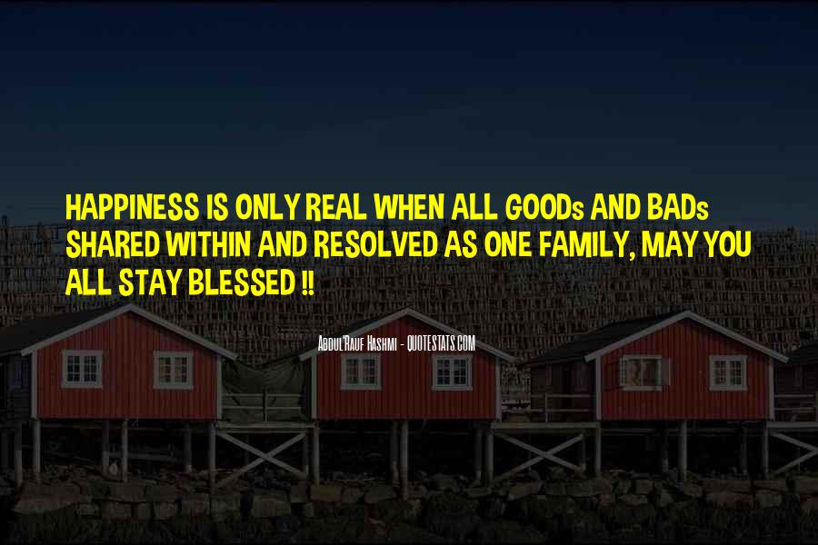 Quotes About Blessed Family #1011292