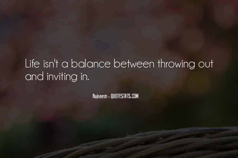 Quotes About Balance And Life #46376