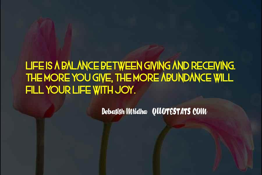 Quotes About Balance And Life #95057