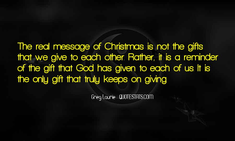 Quotes About Giving Gifts On Christmas #1610191