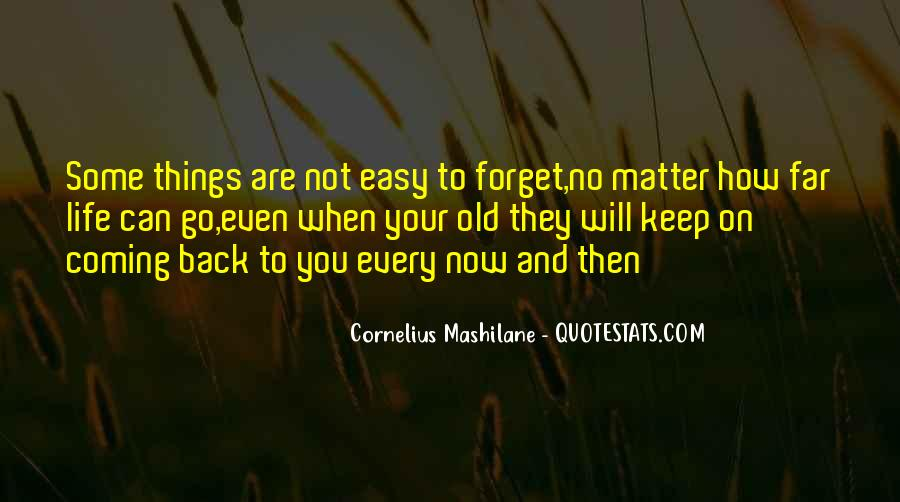 Quotes About Not Easy To Forget #1379163