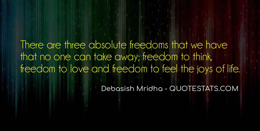 Quotes About Freedoms #154064