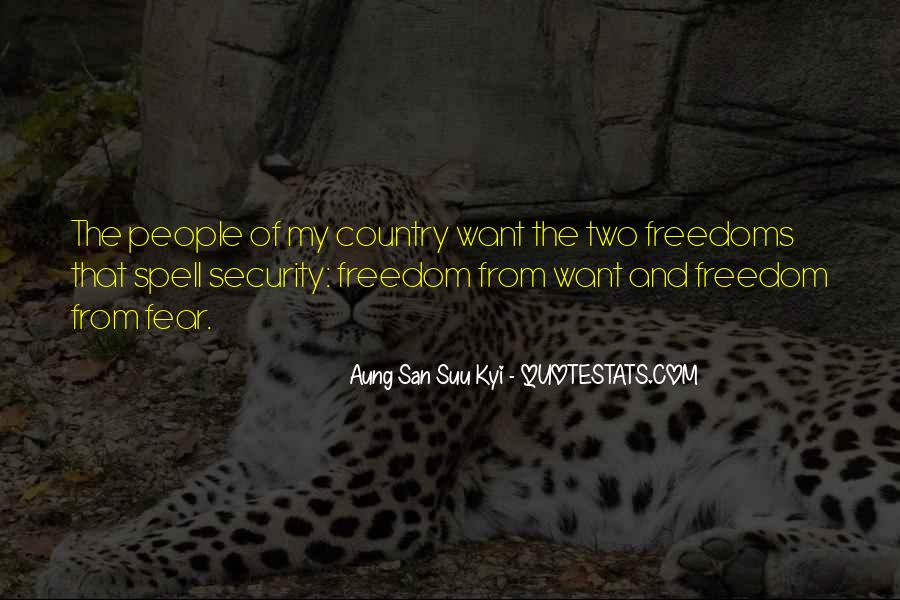 Quotes About Freedoms #272194