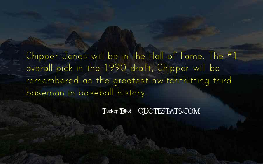 Quotes About Baseball Hall Of Fame #1543783