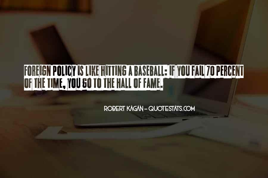 Quotes About Baseball Hall Of Fame #1827258
