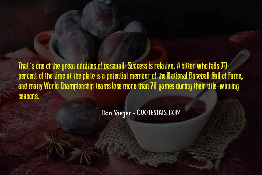 Quotes About Baseball Hall Of Fame #454505
